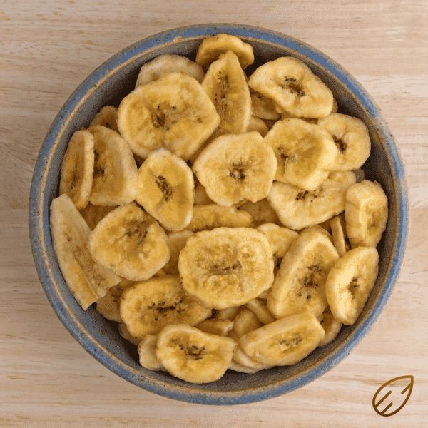 Tørrede bananer bananchips